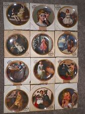 Norman Rockwell Plates, Rediscovered Women COMPLETE Collection, Lot of 12