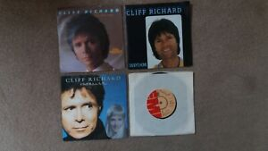 """Cliff Richard - 4 x 7"""" Singles - True Love Ways, Daddy's Home + 2 others"""