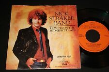 "NICK STRAKER P/S 45 ""LEAVING ON THE MIDNIGHT TRAIN "" 1981 DISCO POP"