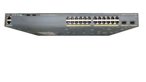 Cisco WS-C2960X-24PD-L - Ethernet Gigabit Poe switch - 24 ports - 2 SFP+ 10G