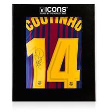 Philippe Coutinho atrás firmado FC Barcelona 2017-18 casa de Superdry en Packagin Deluxe