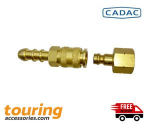 Cadac Quick Release Brass Gas Coupling Tailpiece 8mm Camping Caravan Motorhome