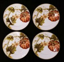 NEW 4 Williams-Sonoma BOTANICAL PUMPKIN SALAD SOUP BOWLS w/ Sticker Thanksgiving