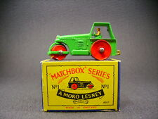 Matchbox lesney moko 1B Road roller  (England 1955) + Box type B1