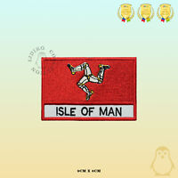 ISLE OF MAN County Flag With Name Embroidered Iron On Sew On Patch Badge