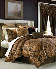 Croscill Monique Damask 4(3) Piece QUEEN Comforter Set BROWN Bedding D391
