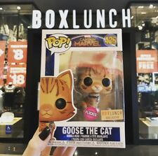 FUNKO POP ! Captain Marvel : Goose The Cat FLOCKED Boxlunch Exclusive Box Lunch