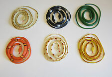 """6 COILED RAIN FOREST RUBBER SNAKES 36"""" TOY REPTILE FAKE JUNGLE SNAKE GAG GIFT"""