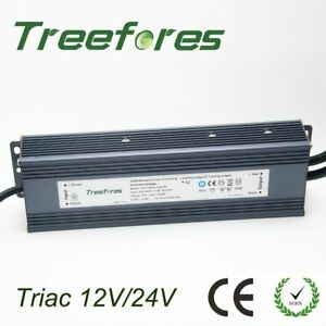 IP66 Triac 80W  Dimmable LED Driver AC to DC 12V Power Supply Dimmable Transform