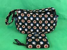 Vera Bradley NIGHT OWL Maggie Purse With Matching Wallet Retired Collectible