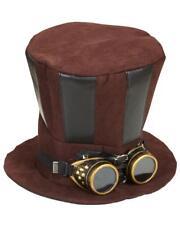 Cilindro Steampunk con Occhiali Accessori Costume Carnevale PS 26421