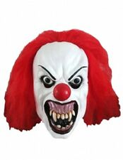 Halloween Snarling Terror Clown The Joker Mask With Red Hair