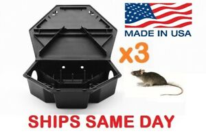 3x HEAVYDUTY RAT MOUSE RODENT BAIT STATION Lockable Tamper & Weather Proof Traps