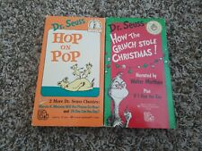 Dr. Seuss How the Grinch Stole Christmas and Hop on Pop Vhs movies