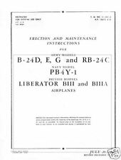Consolidated B-24 Liberator Maintenance Manual 1940's WW2 archive RARE DETAIL