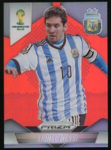 "2014 Panini Red Prizm World Cup Soccer #12 Lionel Messi 87/149 "" SHARP CORNERS """