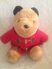 "Vintage 16"" Sears Plush Stuffed Paddington Teddy Bear Red Coat"
