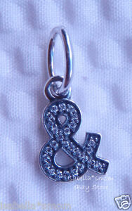 AMPERSAND~And~&~SYMBOL Authentic PANDORA Sterling Silver/Cz Dangle NEW Charm new