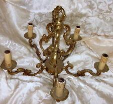 french vintage bronze chandelier five arm