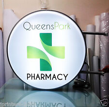 LED 2 Sided Round Outdoor Projecting Light box Sign 60CM + Graphics D60