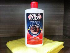 Race Glaze Trim & Leather Renewer + 2 Microfibers