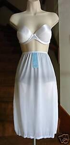 """DIXIE BELLE New Beginnings 100% Nylon FR White Half Slip Plus Sz 4X  Length 25"""""""
