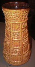 "Vintage Bay W. Germany Vase Yellow Mustard Brownish Mid Century 6-3/4"" Retro"