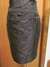 Le Copains Black Silk Skirt Size 6