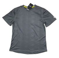NWT ASICS Men's Active Tee Short Sleeve Performance Shirt Gray, Size L Large