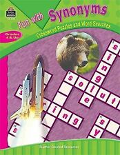 Fun with Synonyms - Crossword Puzzles and Word Searches by Teacher Created Resou