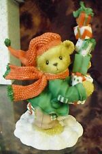 """Cherished Teddies-#864285 """"GUY"""" I Come Bearing Gifts For Everyone - Snowbear-NEW"""
