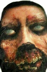 HALLOWEEN PULL ON HEAD FACE STRETCH BLOODY MASK SCARY ZOMBIE HORROR Boys Adults