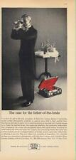 1962 Zeiss Ikon PRINT AD Contaflex Lens & Red Case features Father-of-the-bride
