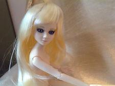"GOODREAU DOLL ""WIG"" - For .. Long  Pale Blonde Mystery ALICE BJD"
