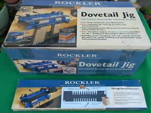 New Rockler Dovetail Jig With Through Dovetail Template In Box