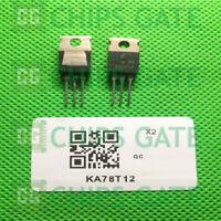 30PCS KA78T12 Encapsulation:TO-220,3-Terminal 3A Positive Voltage