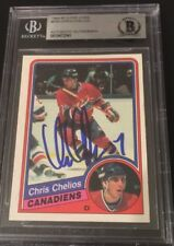 Chris Chelios Signed 1984-85 OPC Rookie Card Beckett Certified