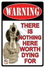 """No Trespassing Metal Sign 8""""X12"""" All Weather Usa Made! Keep Out Private Property"""