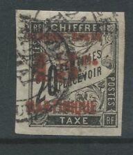 Martinique 1891 Used Sc #28 Imperforate Surcharge Cat $45