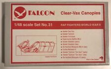 Falcon Clear-Vax Canopies 1/48 RAF Fighters World War 2 Set No.31