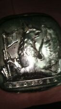 Old vintage Metal Square Shape of Bedford Truck Mascot plate from USA 1950