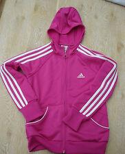 adidas Trainingsjacke pink Gr. 140 schwarz - Kapuzenjacke