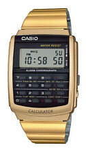 Casio CA506G-9A Men's Gold Tone Retro 8 Digit Alarm Chrono Calculator Watch