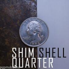 1 SHIM SHELL COIN US QUARTER Magic Trick Hollow Money Close Up .25 Magician Gag