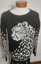 Garage Snow Leopard Sweater Women's Medium 60% Cotton 40% Acrylic