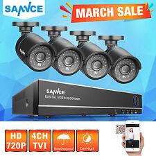 SANNCE DVR 720P 4 Canali 4 Bullet Telecamere Kit VideoSorveglianza di Sicurezza