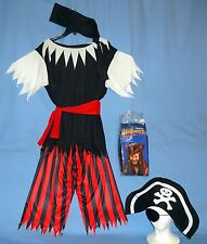 PIRATE  MAN COSTUME;ADULT-MEDIUM-ONE SIZE;PANTS;SHIRT;HAT-SCARVES;NIP-PIRATE WIG