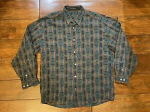 Vintage Jhane Barnes Menswear Long Sleeve Designer Shirt Mens Size Large 19672