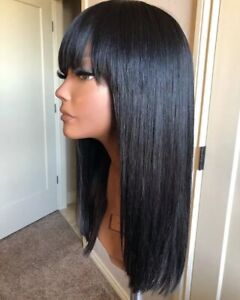 20inch Straight Wig With Bangs