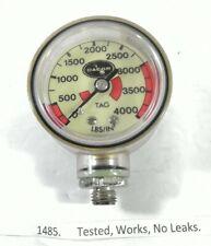 Dacor 4000 Psi Spg Submersible Pressure Gauge 4,000 Scuba Dive #1485